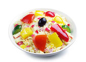 Salad with crab sticks — Stock Photo