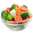 图库照片: Frozen vegetables
