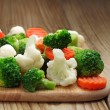Different vegetables frozen — Stock Photo