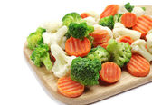Różne warzywa mrożone — Zdjęcie stockowe