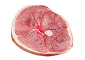 Piece of raw pork ham — Stock Photo