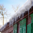 Icicles on the roof — Stock Photo #31923217