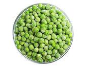 Zielony groch zamrożony — Zdjęcie stockowe