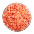 Frozen carrots in bowl — Stock Photo