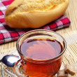 Tea and bread  — Stock Photo