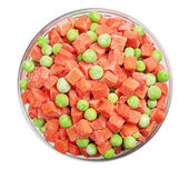 Frozen carrots and green peas — Stock Photo