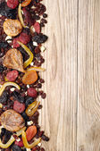 Background with dried fruits — Stock Photo