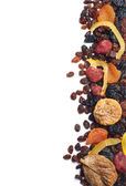 Background with different dried fruits — Stock Photo