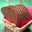 Slices bread in basket on table — Stockfoto #33048229