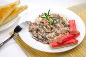 Seaweed salad with mayonnaise — Stock Photo