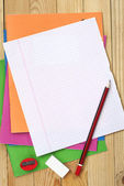 Exercise books and clean sheet — Foto de Stock