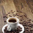 Background with cup of coffee — Stock Photo