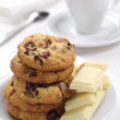 Cookies, chocolate and coffee — Stock Photo #34648815