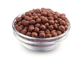 Chocolate cereals in bowl — Stock Photo