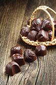 Doces de chocolate closeup — Fotografia Stock
