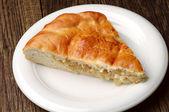 Piece cabbage pie — Stock Photo