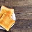 Background with toast — Stock Photo