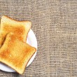 Background with slices of toast — Stock Photo