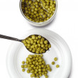 Green peas canned — Stock Photo #39276797