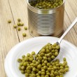 Green peas canned — Stock Photo #39276803
