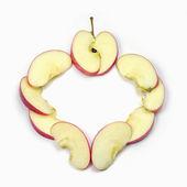 赤いリンゴのスライス — ストック写真