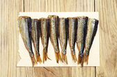 Background with sprats — Stock Photo