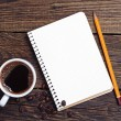 Notebook and coffee — Stock Photo #40632943