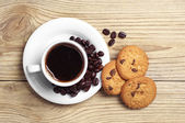 Cup of coffee and cookies — Foto de Stock