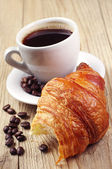 Croissants and coffee — Stock Photo