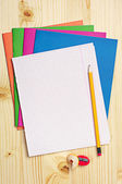 Blank sheet of school notebook — Stock Photo