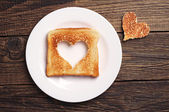 Slice of toast bread  — Stock Photo