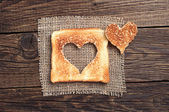 Slice of toast bread  — Stockfoto