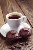 Coffee and marshmallow — Foto de Stock