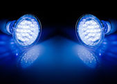 Beams of led lamps — Stock Photo