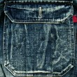 Jeans pocket, — Stock Photo