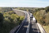 Transport traffic on the bridge — Stock Photo