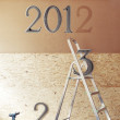 The New Year is coming concept - numbers 2013 instead of 2012 — Stock Photo