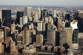 New York City Manhattan skyline aerial view with skyscrapers — Stock Photo