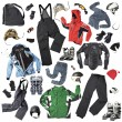 Ski Clothes And Accessories — Stock Photo #19818165