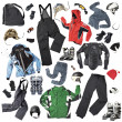 Ski Clothes And Accessories - Stock Photo