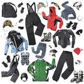 Accessoires et vêtements de ski — Photo
