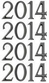 New year design elements - numbers 2014 — Stockfoto