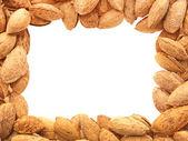 Almond frame. — Stock Photo