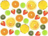 Assorted sliced fruit — Stock Photo