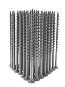 Building black screws. — Stock Photo