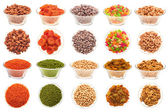 Set of nuts, beans and dried fruit. — Stock Photo