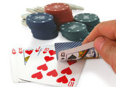 Unfortunate combination of poker. — Stock Photo