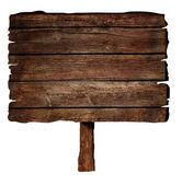 Drewniany znak — Zdjęcie stockowe