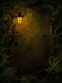 Halloween background with spooky vines — Stock Photo
