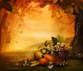 Autumn design - Season fruit — Stock Photo